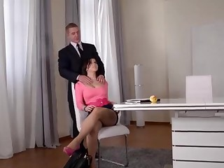 Ultra Fantastic Substantial globes Sex Industry Star Nekane Hard-Core Banged in the Office!