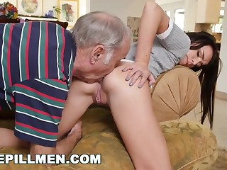 Kharlie Stone is having horny lovemaking with her old neighbor, and liking it a bunch