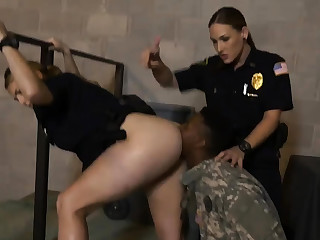 Hot chubby brunette milf Fake Soldier Gets Used as a Fuck To