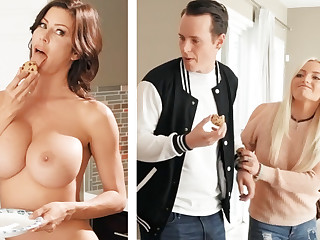 Boyfriend fucked GF's jocular mater with prominent boobs