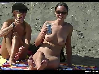 Hottie Nudist Couples Beach Voyeur - XOZILLA