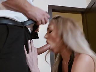 Aiden Ashley desperately needs cock after sting day of work