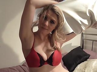 Intense solo play down Ashleigh McKenzie loving her dildo
