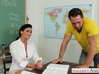 Chesty teacher Phoenix Marie take cock with respect to classroom