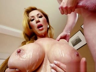 Busty japanese pro sucks for cuminmouth
