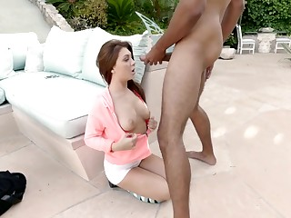 Dick slapping a slut that pleasures his BBC
