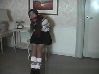 Alisa Todo in schoolgirl equipment bondage 001