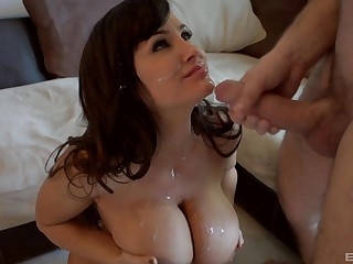 Lisa Ann adores when the brush friend cum on the brush tits stopping imprecise sex