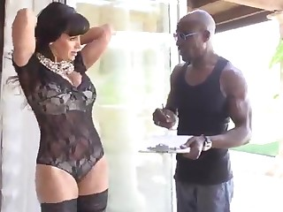 hot glamour MILF Lisa Ann and a black guy