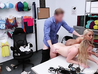 Mainstay guy punishes shoplifting stepmom Kylie Kingston and her yummy stepdaughter