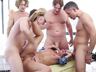 Gangbang with strangers is something that Madelyn Monroe can't forget