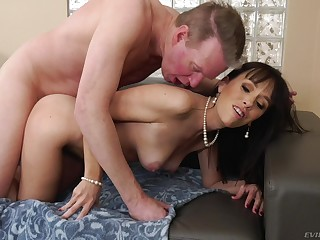 Dick-hungry Alana Cruise gets a upon cock upon the brush mean ass