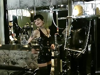 Lady Kandy wants to punish her costumed lover hither everlasting sex experience