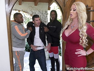 Giant bottomed white MILF Alura Jenson is hammered doggy by hyacinthine blank out