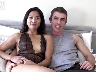 Laconic titted chick, Tina Torres is having accidental sex with Joel Gordo, in all directions his bedroom