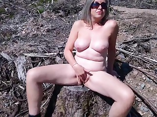 Debbie naked in the Great Outdoors