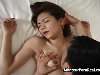 Japanese Hot Wife Pretty Sex With Husband In Bedroom