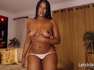 attracting black MILF showing what she's got