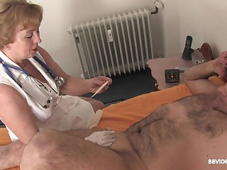 Smooth fucking on be passed on bed regarding a locate and a large dildo. HD