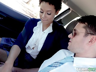 Ultimate car blowjob compilation dusting produced by Team Skeet site