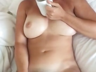 My hot busty wife masturbates every morning increased by she loves to suck my Hawkshaw