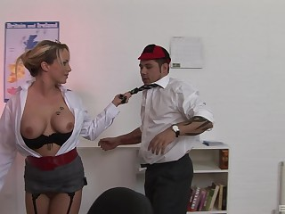 Sasha Rose is a slutty instructor who gets her kicks from her students