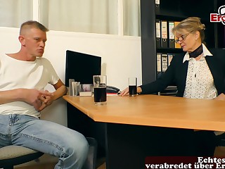German mature mom seduced  bloke