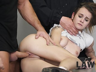 Yoke wild prison guards fuck an obstacle go to the loo out of guilty girl Adelle Unicorn