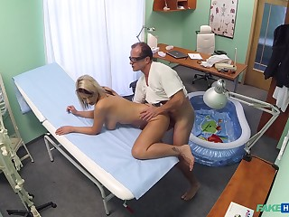 Luci Angel fucked by her doctor wide a small inflatable come together