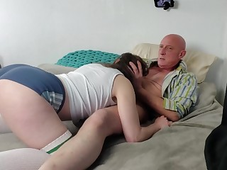 Teen loves being strangled and fast fucked in her mouth