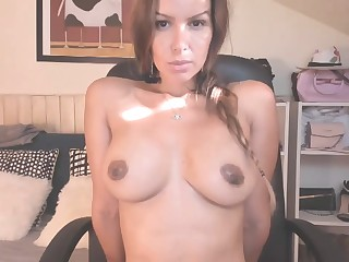 Amazing hot girl shows their way tits on Webcam