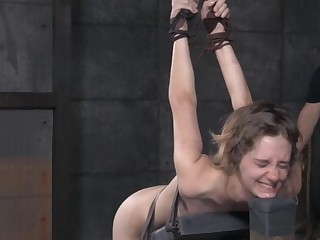 Skinny amateur babe Mercy West cries by means of rough torture session