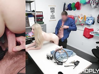 Petite shop lifter gets her pussy needy by eradicate affect security cunning