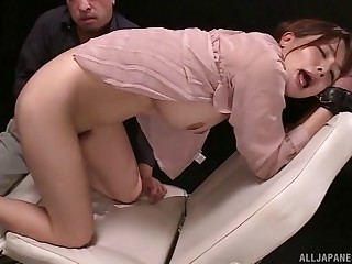 Amateur girl Takaoka Sumire gets her pussy and ass poked with toys